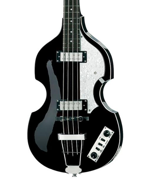 Right Handed Hofner 4 String Ignition Violin Bass-Transparent Black HI-BB-TBK