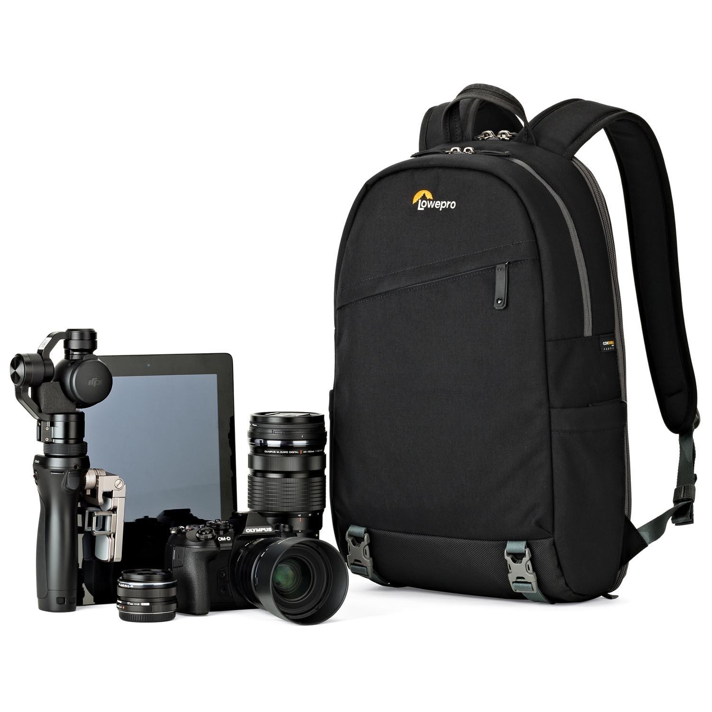 Qingbaotong Stylish Minimalist Grey Camera Bag Multi-Functional SLR Backpack Professional Camera Bag 15.6-inch Laptop Multi-Function Collection Bag Exquisite