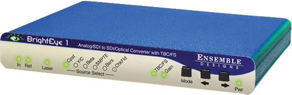 Analog/SD SDI to SD SDI/Optical Converter with TBC and Frame Sync