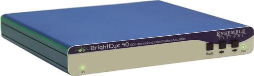 Ensemble Designs BE-40 1x4 BrightEye 40 SDI Reclocking Distribution Amplifier, Requires Power Supply (BE-PS - NOT Included) BE-40