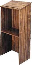 One-Piece Full Height Stand-Up Wood Lectern without Sound System