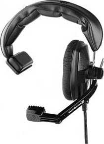 Headset/Mic, Single Ear, 200/400 ohm, No Cable, Grey (Black shown)