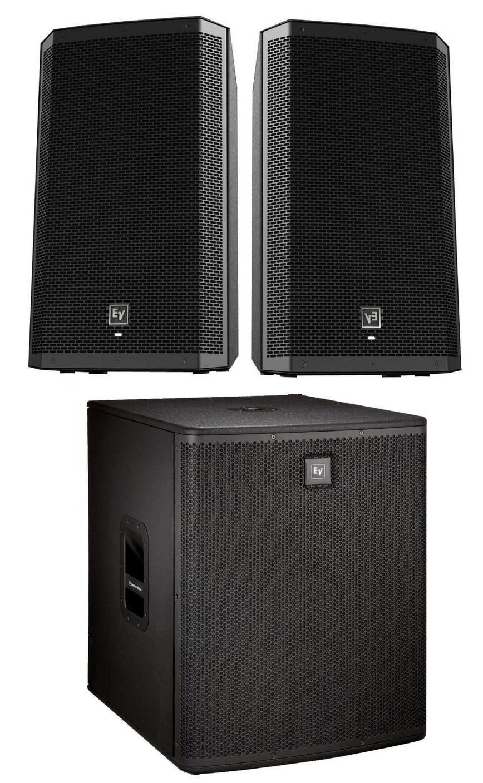 electro voice zlx 15p us 2 sub k bundle 2 zlx 15p speakers and 1 elx118p subwoofer full. Black Bedroom Furniture Sets. Home Design Ideas