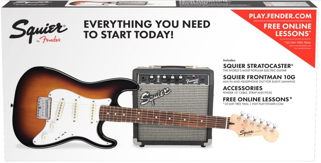 Strat® Pack SS Guitar Pack with Short Scale Stratocaster and