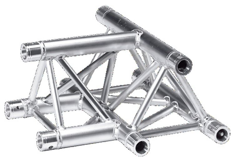 1.64 ft. 3 Way Horizontal Triangular Truss T-Junction with Apex Up or Down