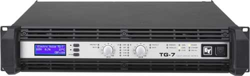 Electro-Voice TG7 Power Amplifier, Touring Grade, Class H, 2 x 2500W @ 4 ohms continuous TG7
