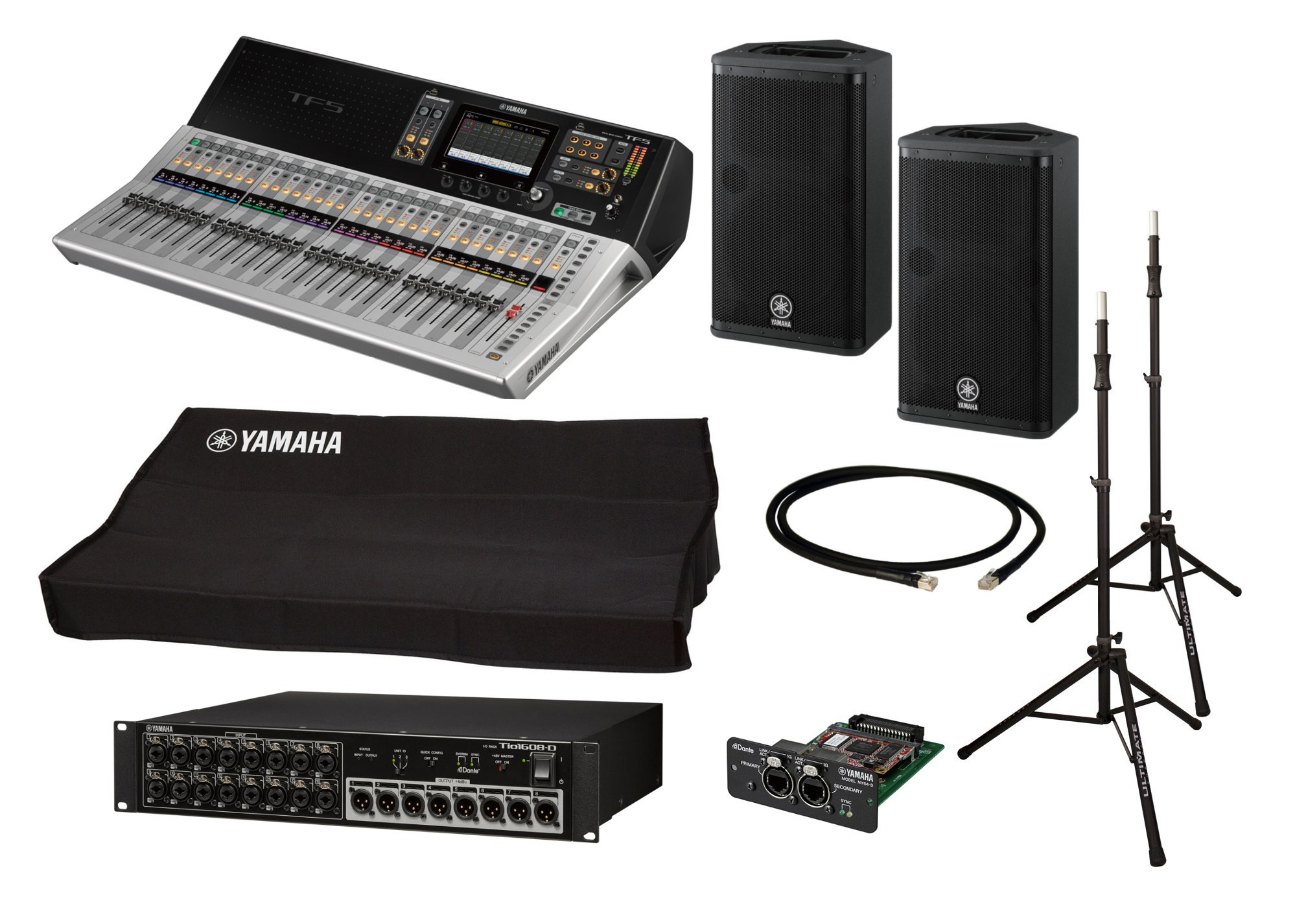 Yamaha TF5-DSR112-PACK-K TF5 With Stagebox + Active Speakers +