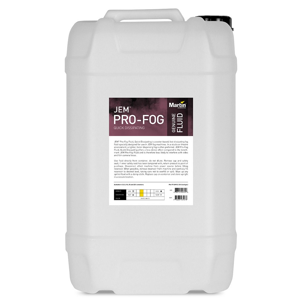 Martin Pro Pro-Fog Fluid, Quick Dissipating 25L Container of Water-Based  Fast Dissipating Fog Fluid for JEM Fog Machines   Full Compass