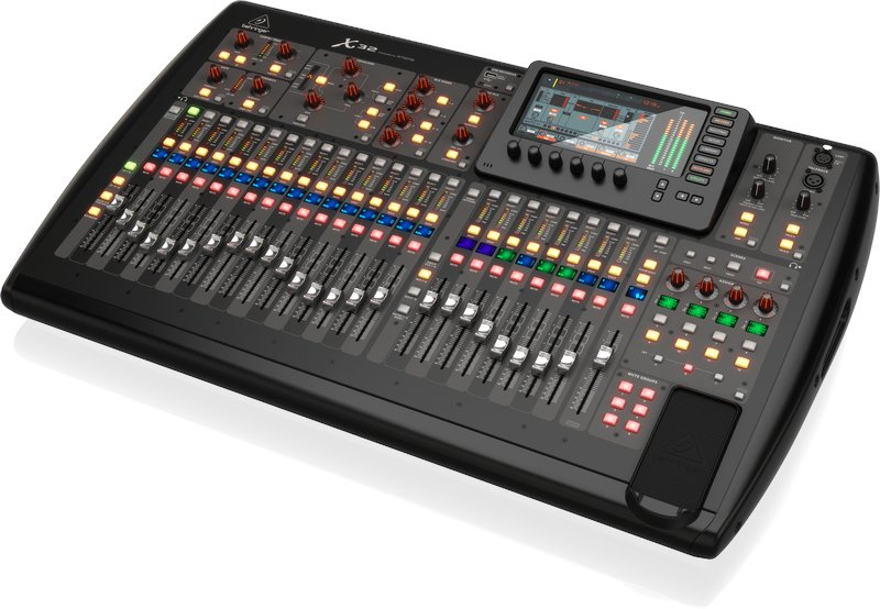 behringer x32 40 channel 16 bus digital mixer with 32 microphone preamps full compass systems. Black Bedroom Furniture Sets. Home Design Ideas
