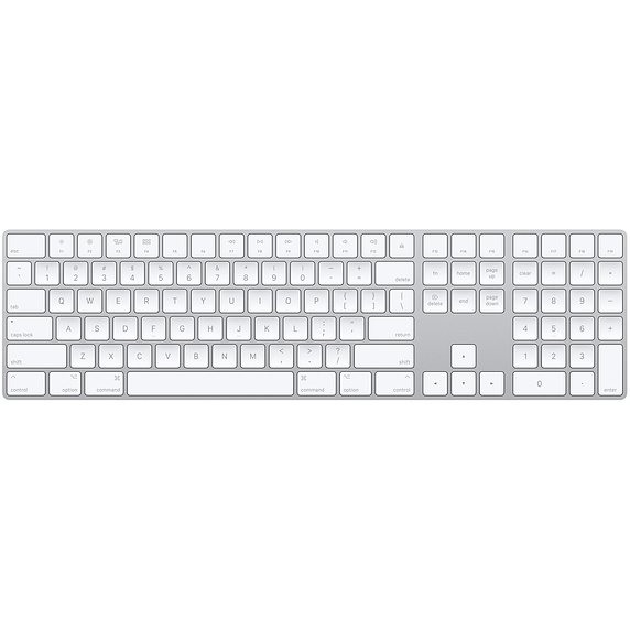 Apple Magic Keyboard with Numeric Keypad Wireless Bluetooth Keyboard for  Mac and iOS Devices, MQ052LL/A | Full Compass