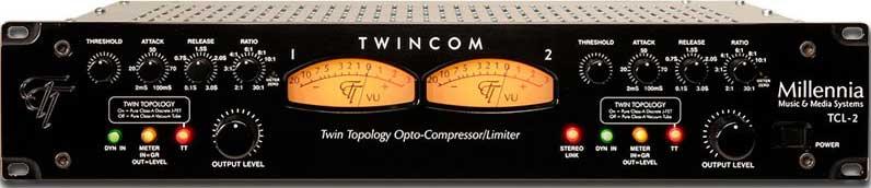 TwinCom Stereo Compressor/Limiter, Tube and Discrete Solid State