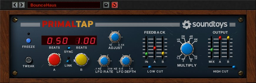 SoundToys PRIMAL-TAP-5 Retro Delay with Freeze Plug-In [VIRTUAL] | Full  Compass