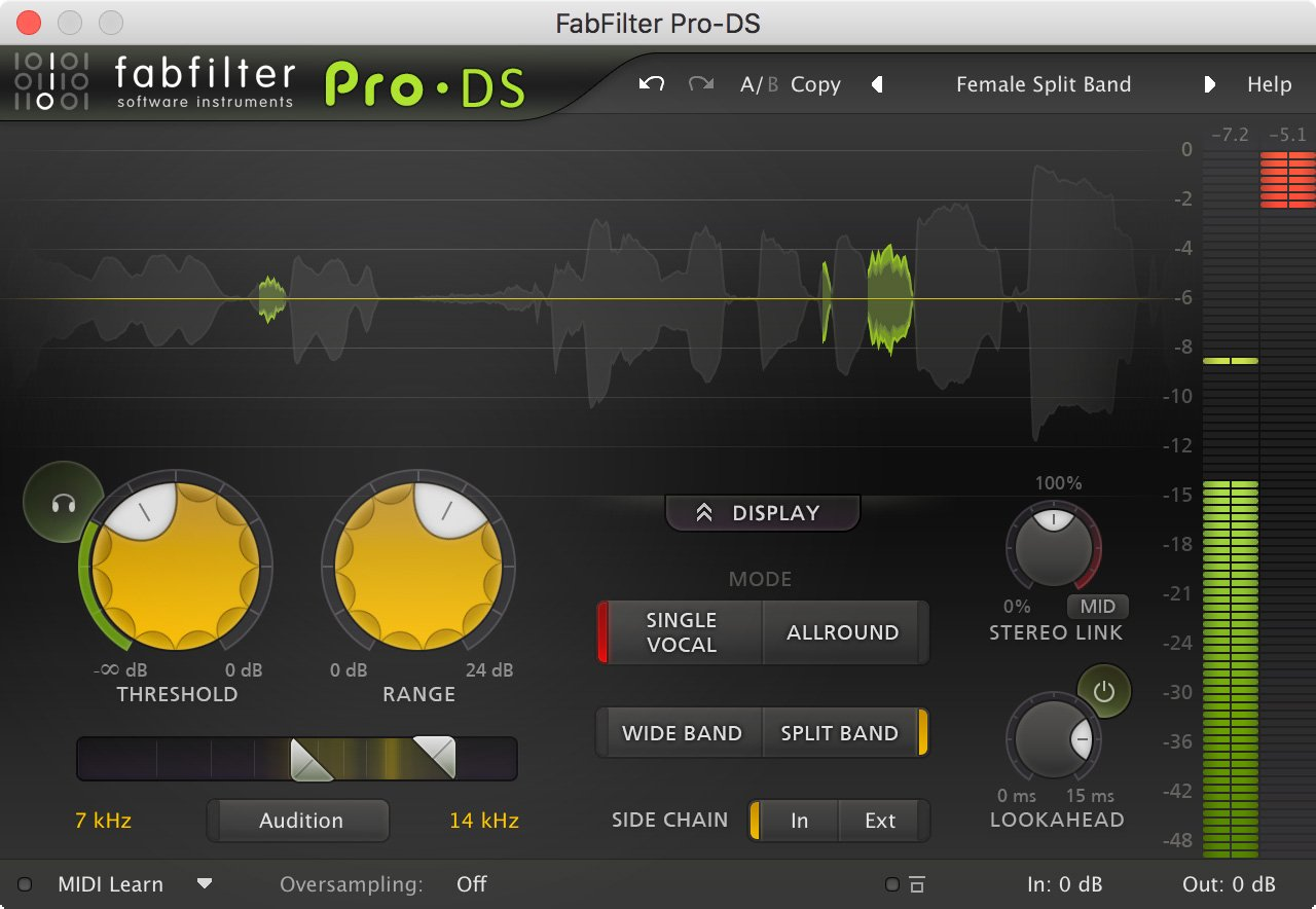 FabFilter FAB-PRO-DS Intelligent & Transparent De-Esser [VIRTUAL]
