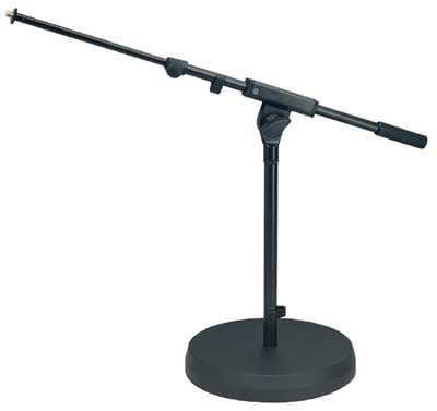 Low-Profile Microphone Stand with Round Cast-Iron Base