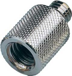 """K&M Stands 218 Thread Adapter, 1/2"""" Female to 3/8"""" Male 218-KM"""