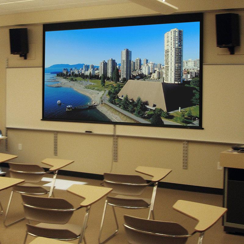 """Draper 207101 luma manual projection screen, 106"""" diagonal, hdtv."""