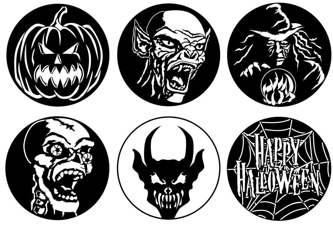 Apollo Design Technology GOBO-PACK-HALOW2-ODD Steel Gobo Scary Halloween,  Non A/B Size, 6 Pack | Full Compass
