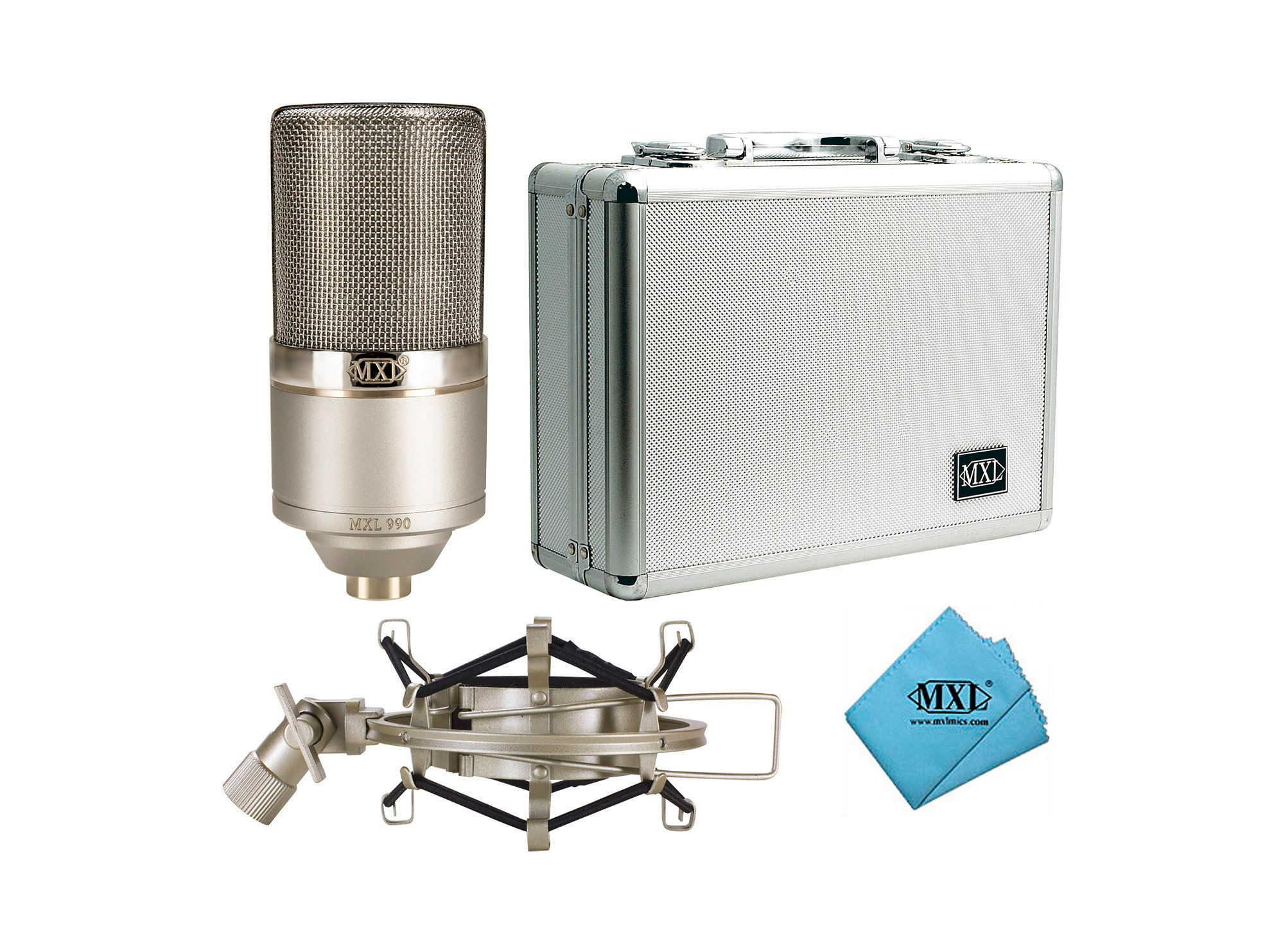 MXL 990-HERITAGE-EDITION Heritage Edition Large Diaphragm Condenser  Microphone | Full Compass Systems