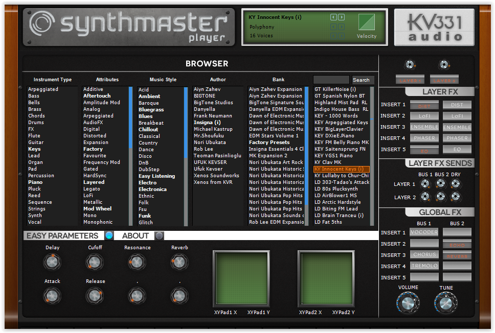 KV331 Synthmaster Player Synth
