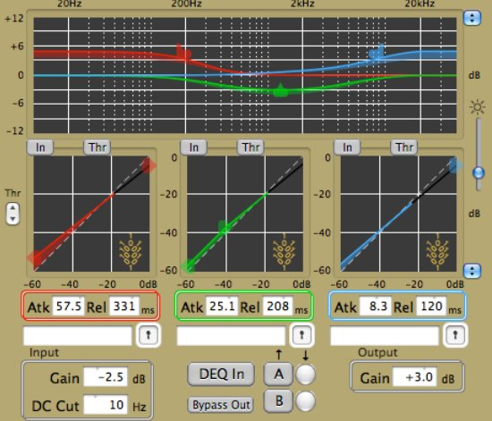 Three Band Eq With Compression Download By Wholegrain Digital