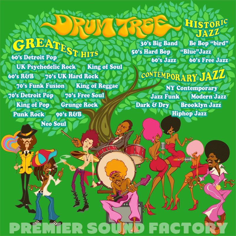 Premier Sound Factory Drum Tree Extensive Historical And Contemporary Drum  Sample Library [download] | Full Compass