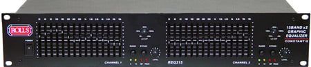 Dual 15-Band Graphic Equalizer w/ Constant Q