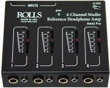Rolls HA43 Pro 4-Channel Headphone Amplifier HA43-PRO