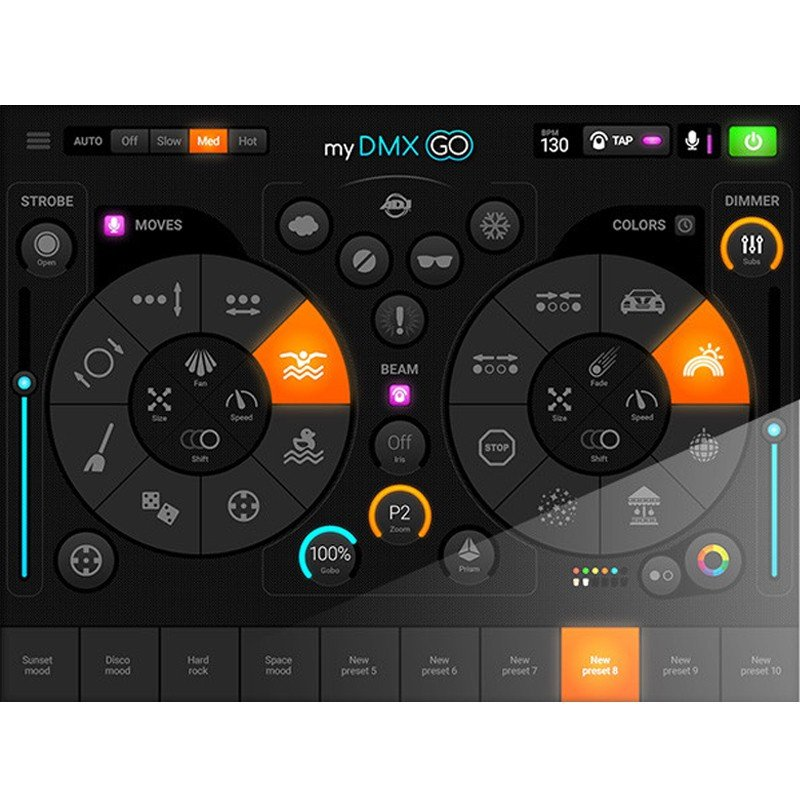 Adj Mydmx Go Lighting Control App For Ipad Or Android With