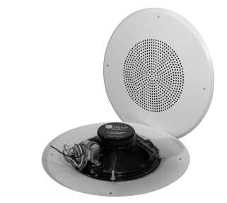 """8"""" Loudspeaker w/ 25V/70.7V 5W Transformer, Volume Control & Stud Mount Baffle"""