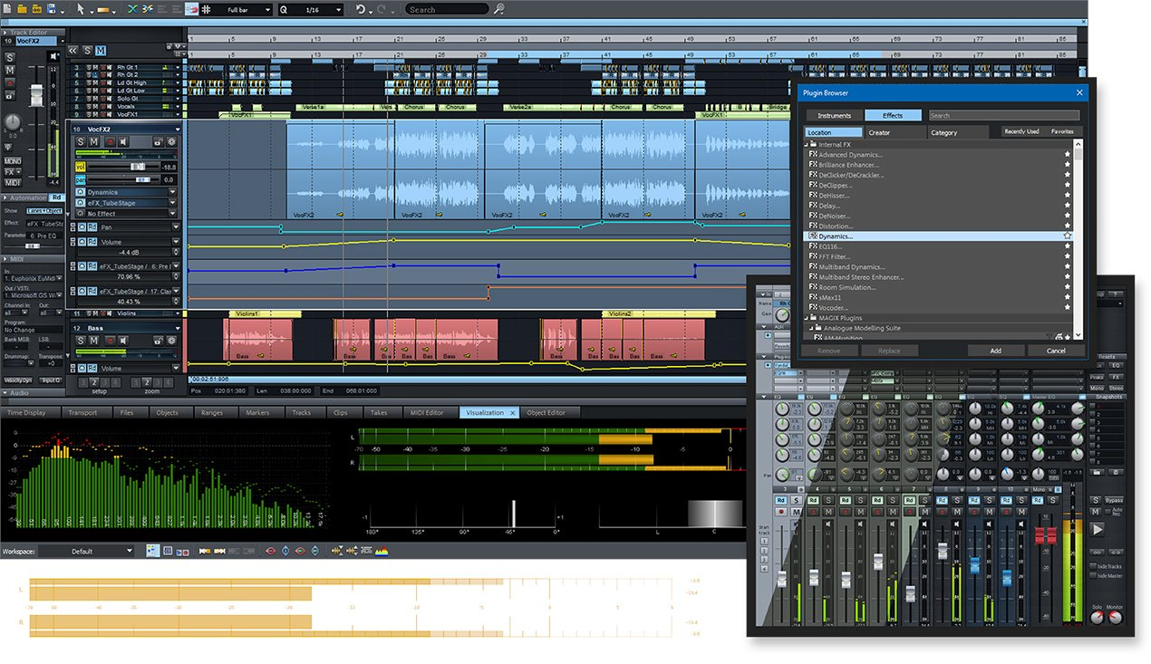 Magix Samplitude Pro X4 Suite Professional DAW Software + Sound Forge 11  (download) | Full Compass