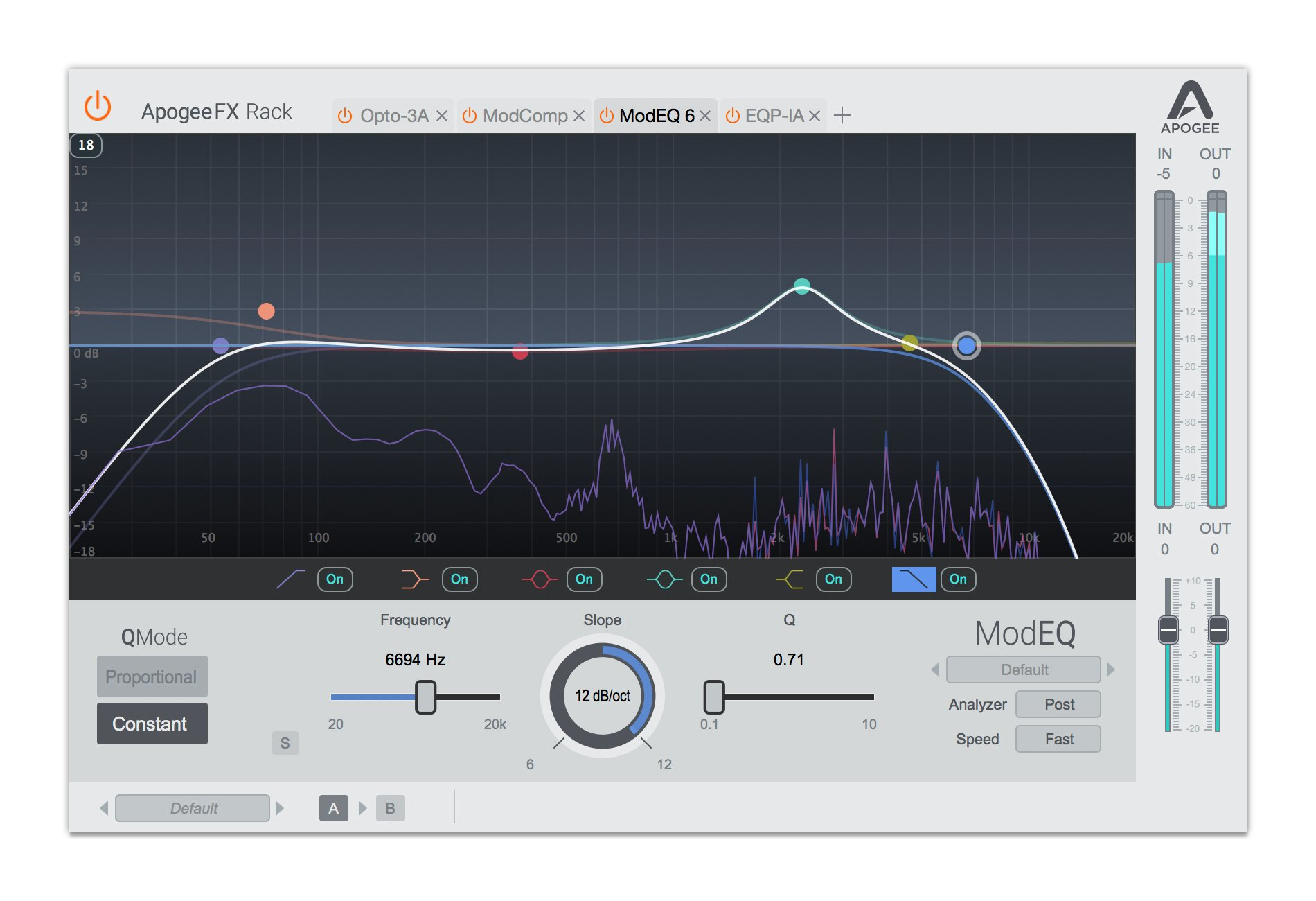 Apogee FX Rack ModEQ 6 6-Band Parametric EQ Plugin, Switchable Proportional  Or Constant Q [Download]