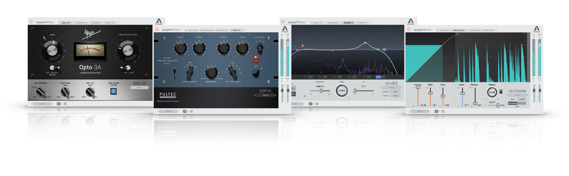 Apogee FX Rack Bundle Processing Bundle with EQP-1A, ModEQ 6, ModComp and  Opto-3A Plugins [Download] | Full Compass