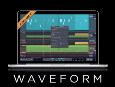 Tracktion WAVEFORM-10-STANDARD DAW With Unlimited Track