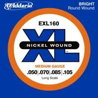 2 Pack of Medium Nickel Wound Long Scale Electric Bass Strings