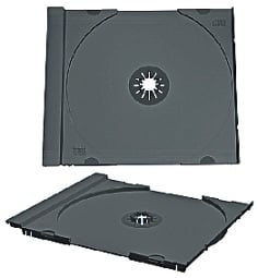 CD Jewel Tray Only, Black, Unassembled