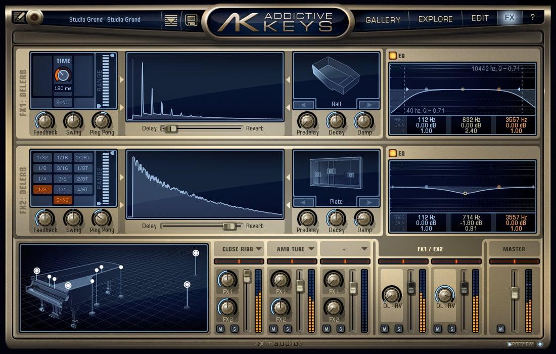 XLN Audio AK-STUDIO-GRAND Steinway Model D Concert Grand
