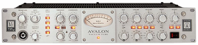 Rackmount Channel Strip with Tube Preamplifier, Opto-Compressor and Sweepable EQ