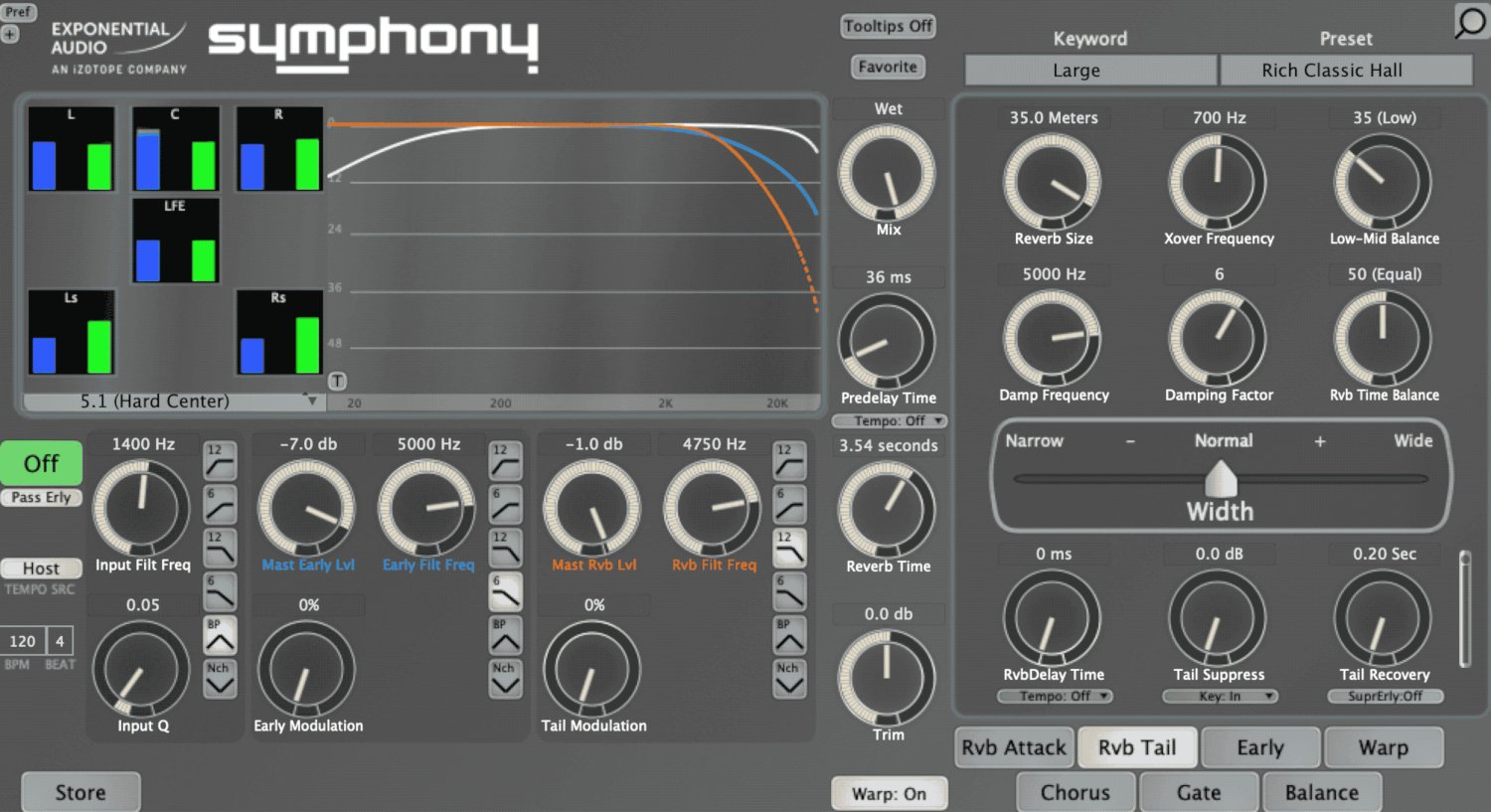 Exponential Audio Symphony Lush surround reverbs with advanced control  (download) | Full Compass