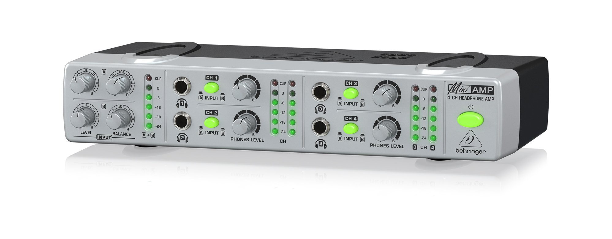 Compact 4-Channel Stereo Headphone Amplifier