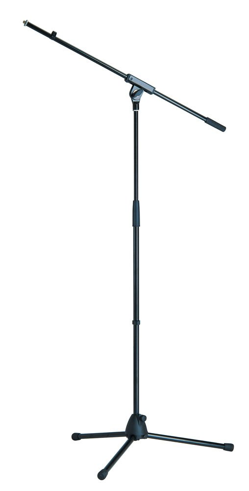 "35""-63"" Microphone Stand with 32"" Boom and Tripod Base"