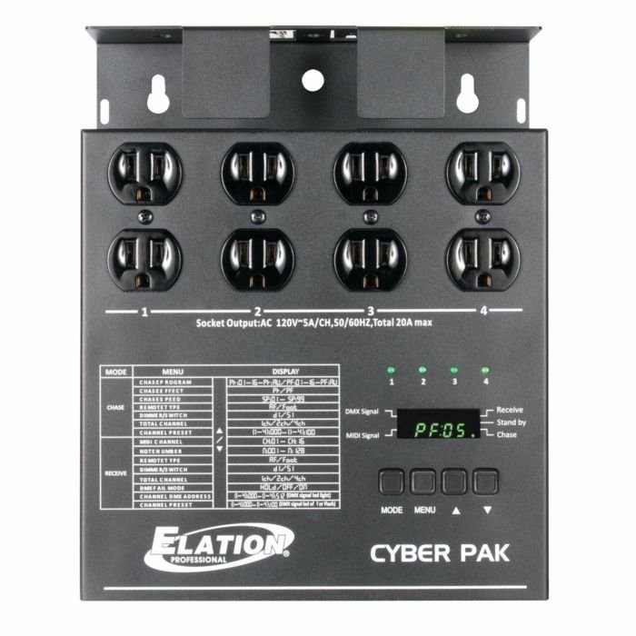 Elation Cyber Pack 4 Channel Dimmer Or Relay Pack Full