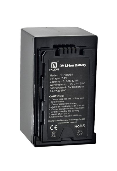 Fxlion DP-VBD58 42Wh 7 4V Battery With Panasonic VW-VBD58