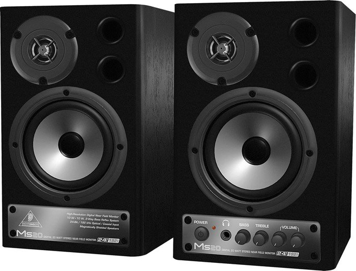 Behringer MS20 Pair of 2-Way Active Digital Monitor Speakers, 10-Watts/ea MS20-MONITOR