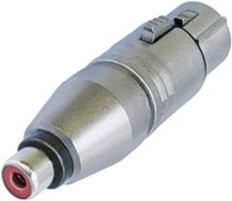 Female XLR to Female RCA Connector, Wired
