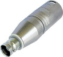 Neutrik NA2MBNC-UW Adapter, Male XLR to BNC, Unwired NA2MBNC-UW