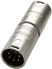 5-Pin XLR-M to 5-pin XLR-M Wired Gender Conversion Adapter