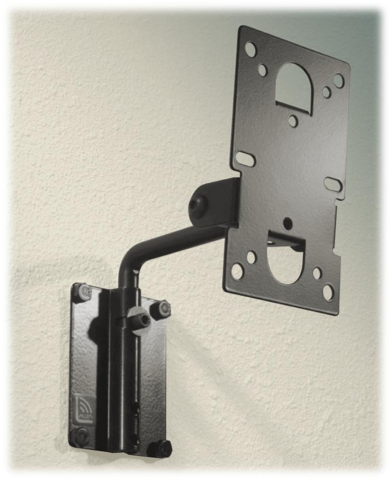 atm mm 016 black multimount pan and tilt speaker wall mount, 25lbatm mm 016 black multimount pan and tilt speaker wall mount, 25lb wll, black full compass systems