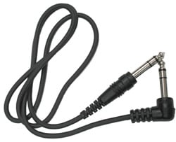 "Audio Cable, Stereo 1/4"" Male to Stereo 1/4"" Right-Angle Male, 15 Feet"