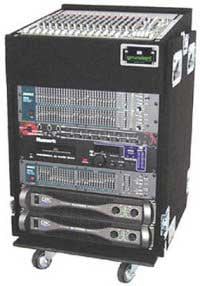 Rack, Top-Loading, 10-Space Slant Top, 12-Space Bottom, Recessed Hardware