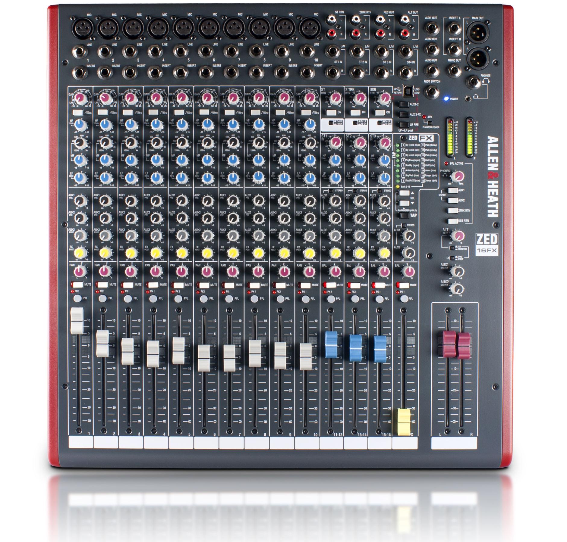 allen heath zed 16fx 16 channel analog mixer full compass systems. Black Bedroom Furniture Sets. Home Design Ideas